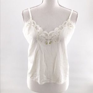 Private Treasures by Avon White Camisole Size Med